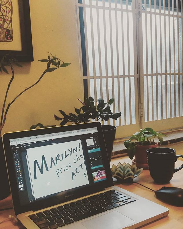 October monsoon = perfect photo editing weather  #pedrothefrog #getonitmarilyn #comics #Brooklyn