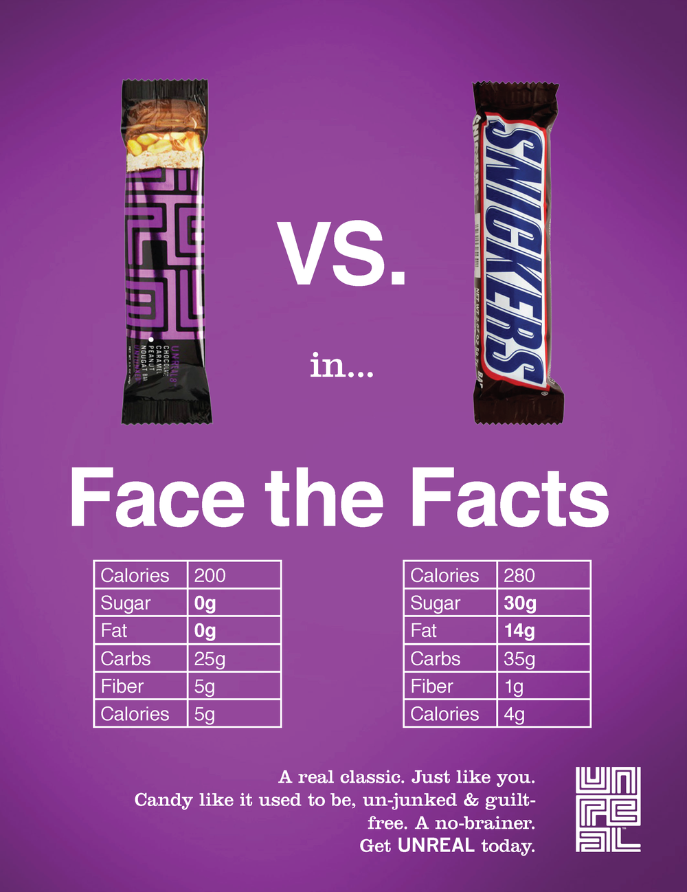 UNREAL Candy Ad Print (Snickers)