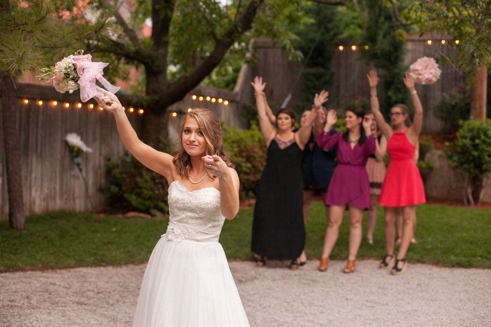 The Flower Toss   | #HisQueenHerEngelking Wedding | Photography by Two Arrows Photography at twoarrowsphoto.com