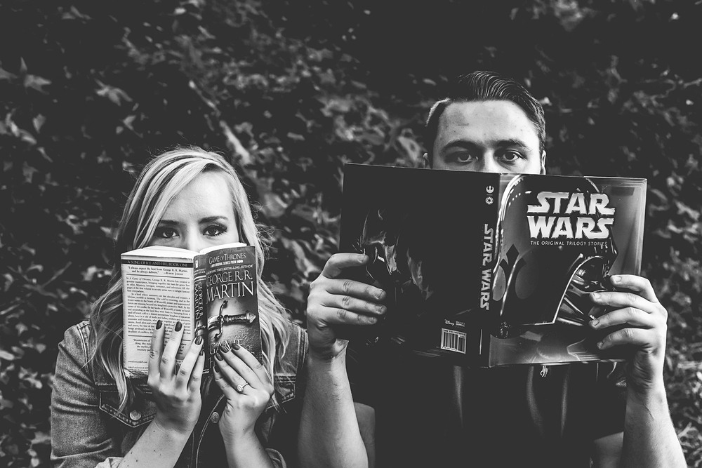 Game of Thrones + Star Wars  Patrick + Sarah Engagement Session   Photography by Two Arrows Photography   Find more at twoarrowsphotos.com