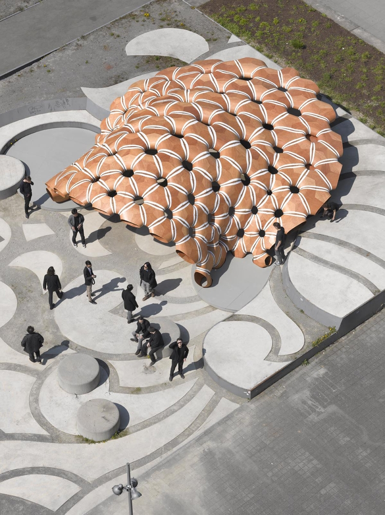 ICD/ITKE Research Pavilion 2015-2016 view from above.