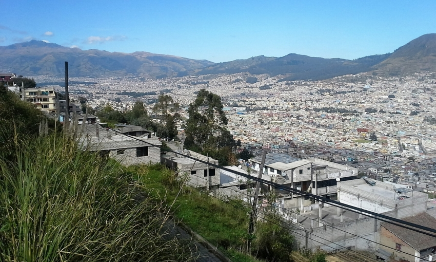 iew from above Quito, Ecuador. Photo by Dennis Carr.
