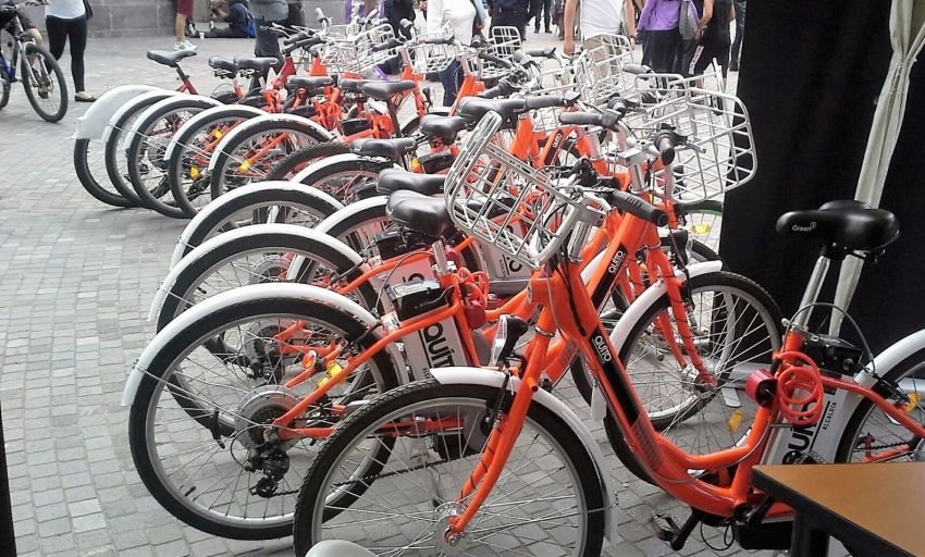 BicaQuito Bike Share in Quito, Ecuador. Photo by Dennis Carr.