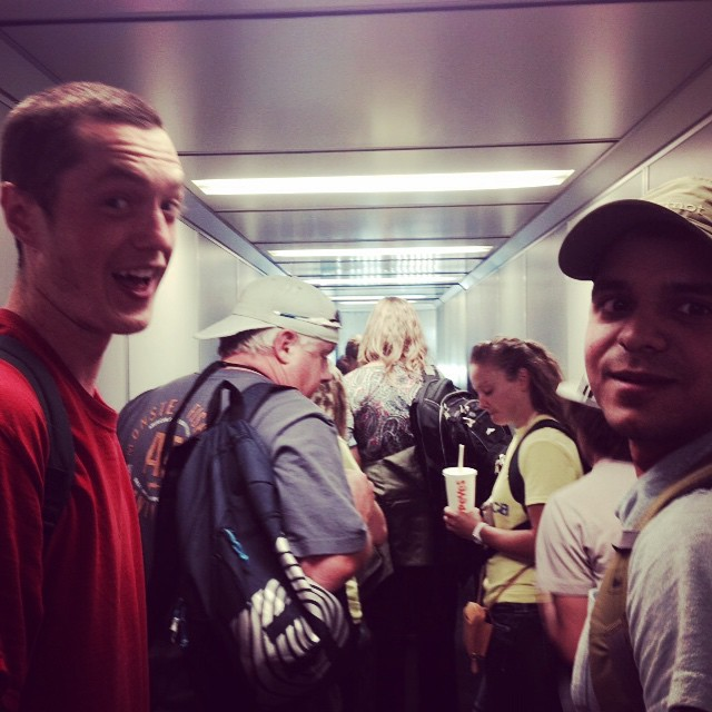 #reu students on their way to Costa Rica to spend 10 weeks working on leaf cutter ant biogeochemistry. Clearly they are thrilled