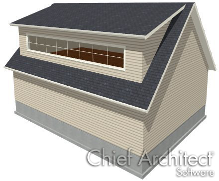 A Shed dormer (like this ONE) could make the upstairs MUCH more usable.  Is this possible?  is the roof too shallow ?