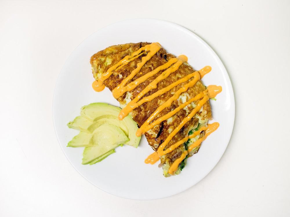 Leftovers Omelette