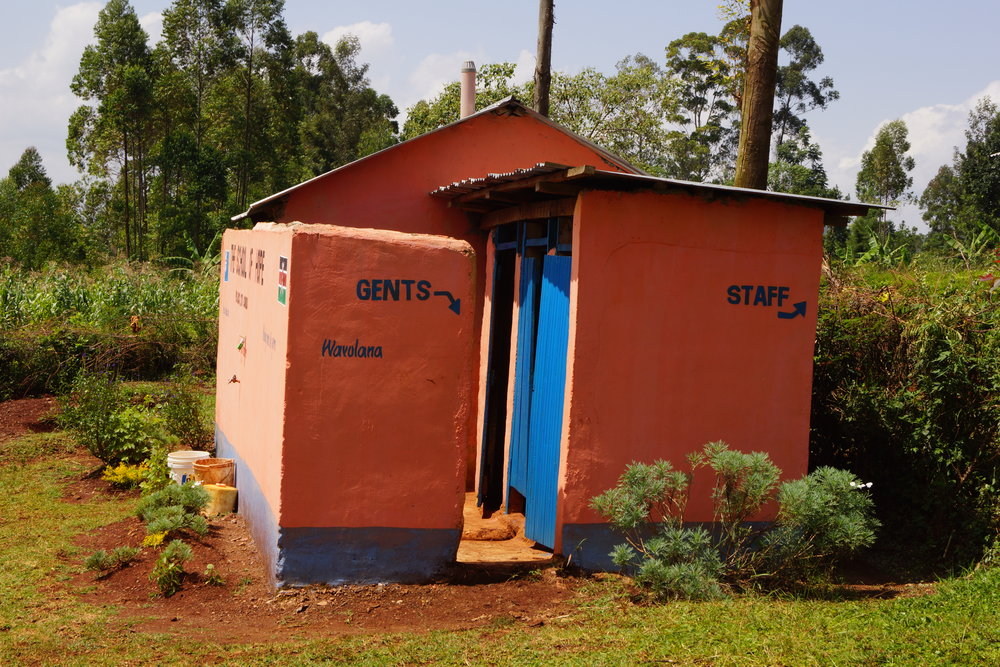 The new toilets at School of Hope