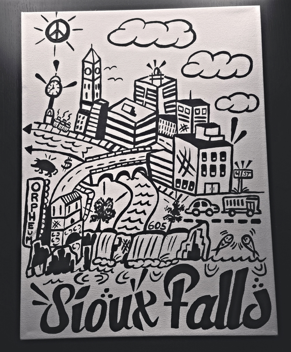 "Sioux Falls Simplified Understanding 12"" x 16"" (2013)"