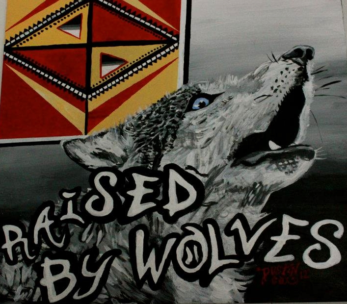 "Raised By Wolves 20"" X 16"" (2011)"