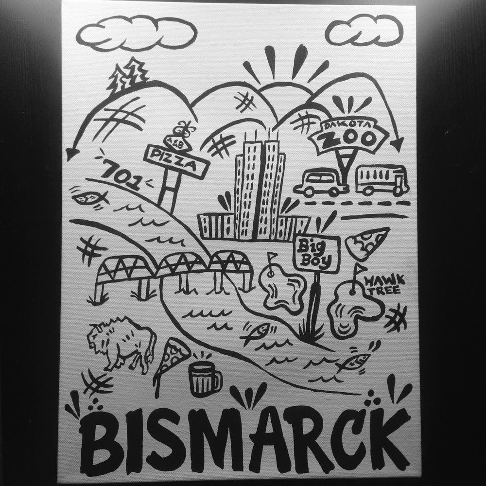 """Bismarck Simplified Understanding 12"""" x 16"""" (2013)"""