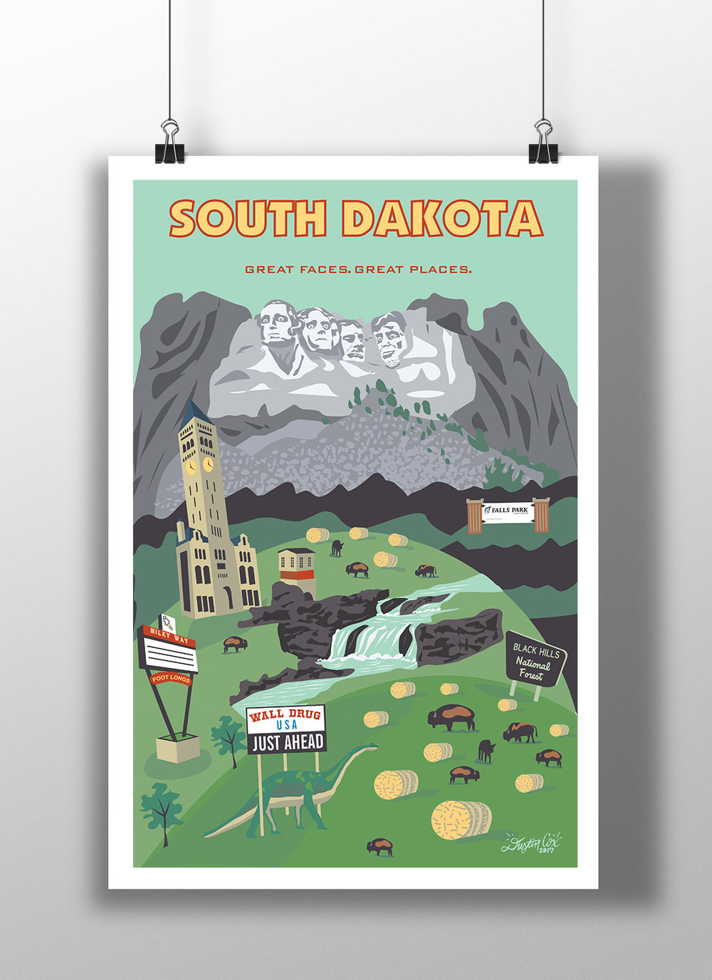 South Dakota State Poster