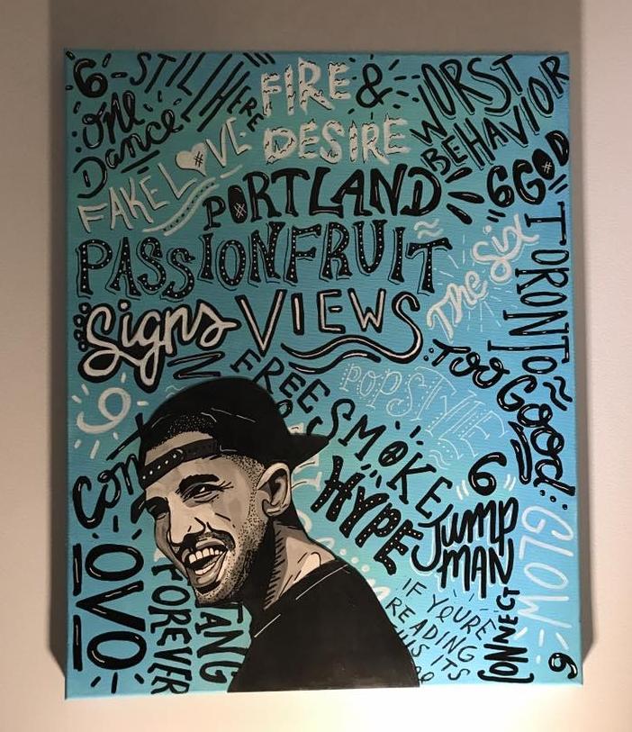 Drake Typographic Portait