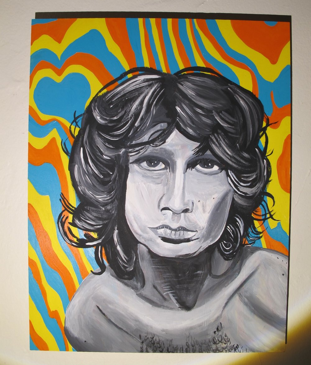 "Jim Morrison Sunny California 16"" x 20""  (2015)"