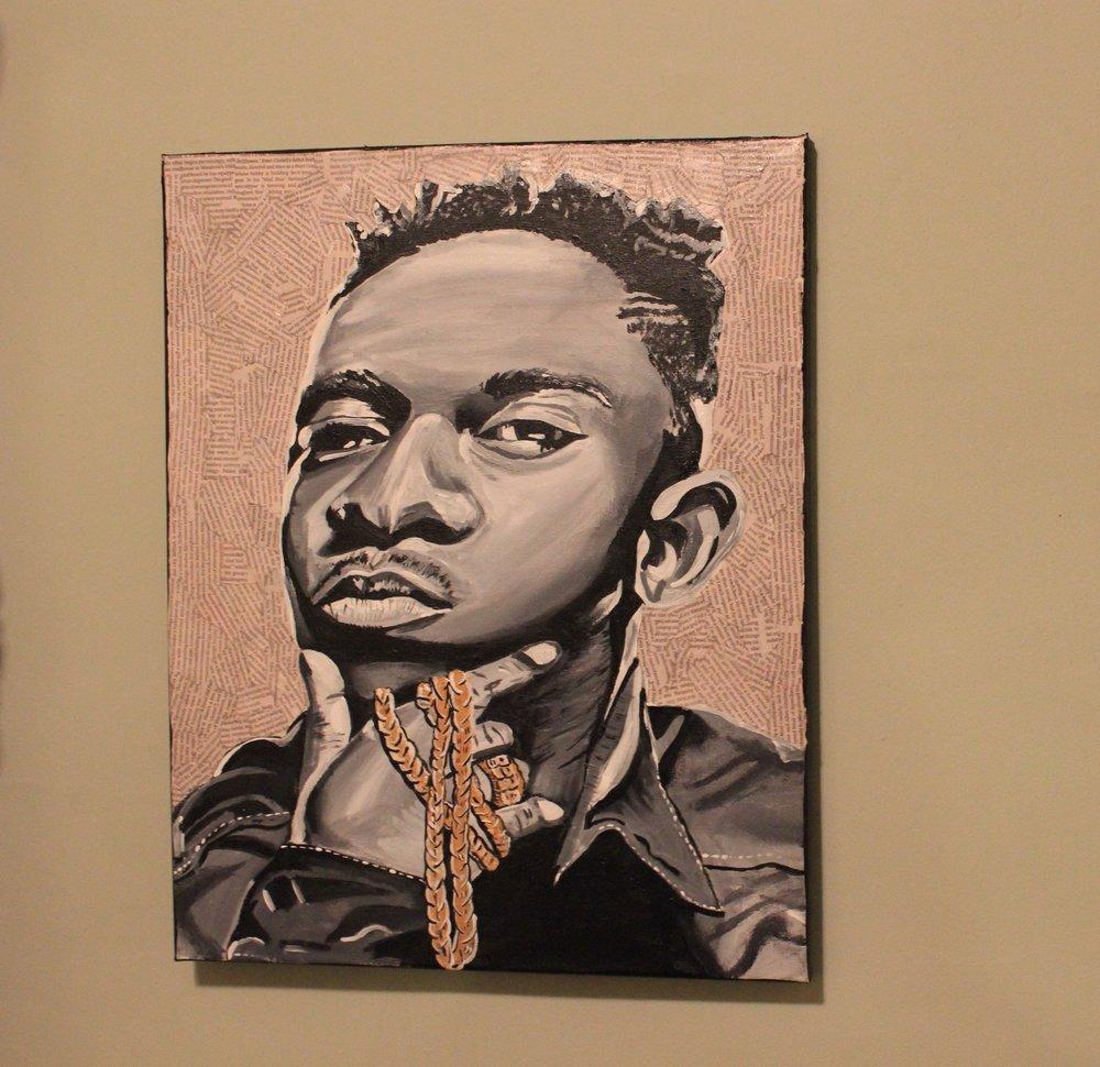 "Kendrick Lamar Portrait 16"" X 20"" (2014)"