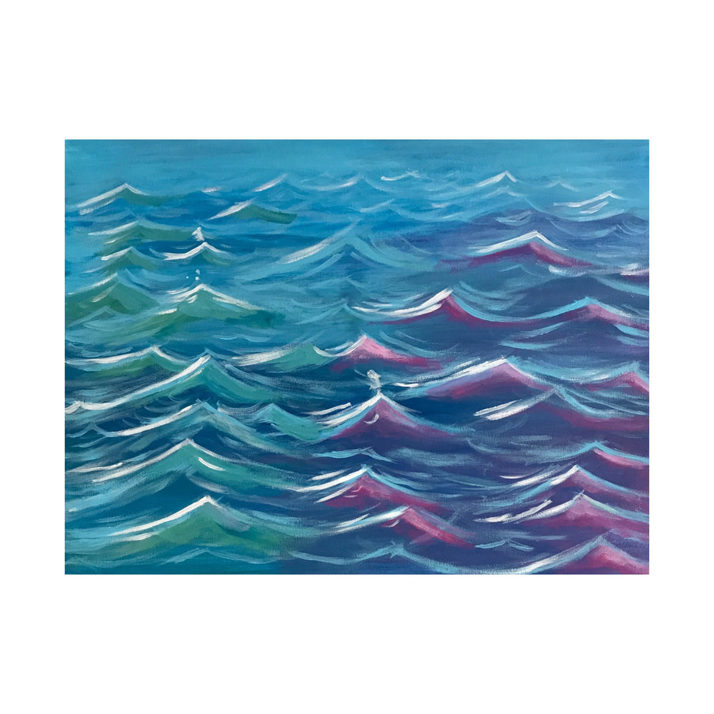"Waves Of Strength 24"" x 18"" (2018)"
