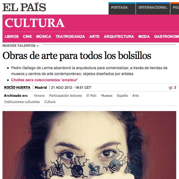 Imagen parcial del artículo que publica el diario El País.