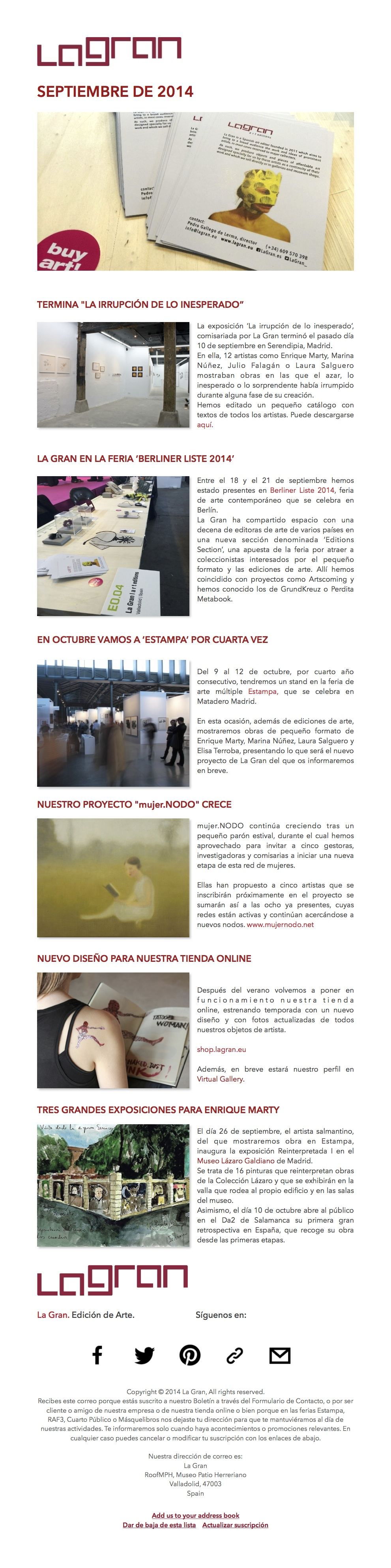 mailing septiembre 2014