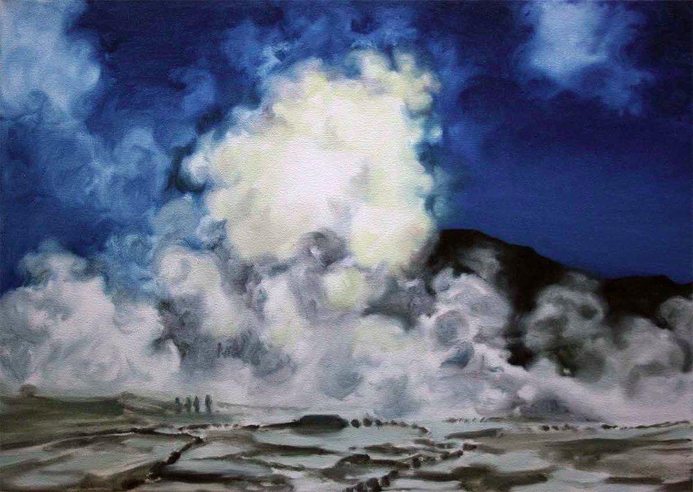 "Irene Sánchez Moreno. ""Bruma"", 2016. Óleo sobre lienzo. 50 x 70 cm.."