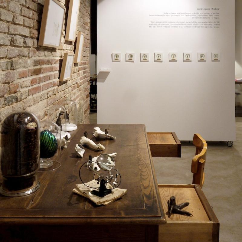 """Laura Salguero. Aspecto general de  """"Mirabilia"""" , exposición desarrollada por La Gran en La Atómica, Valladolid 2014"""