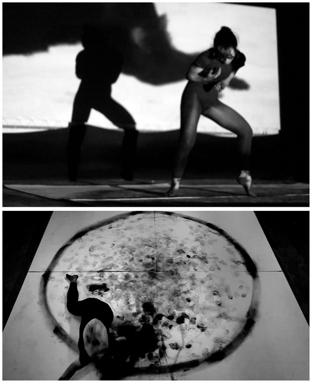 """""""My Animal Print"""" Video Performance. Video loop 5'19''.Felt 160 x 160 cm. Audio Stereo. Madrid. 2012"""
