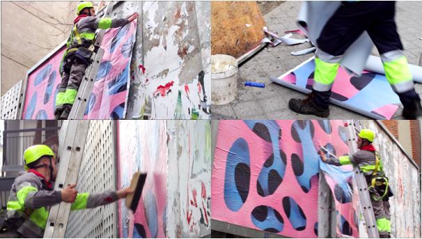 """Fotogramas de la documentación del proyecto """"Ocho Por Tres"""" realizado por Julián Gallez y Elisa Rodríguez , 2017. Video monocanal con audio."""