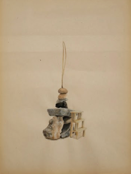 """Tamara Feijoo,""""Aguja de pino"""" ,  2013. Gouache sobre papel, 27,5 x 21 cm"""