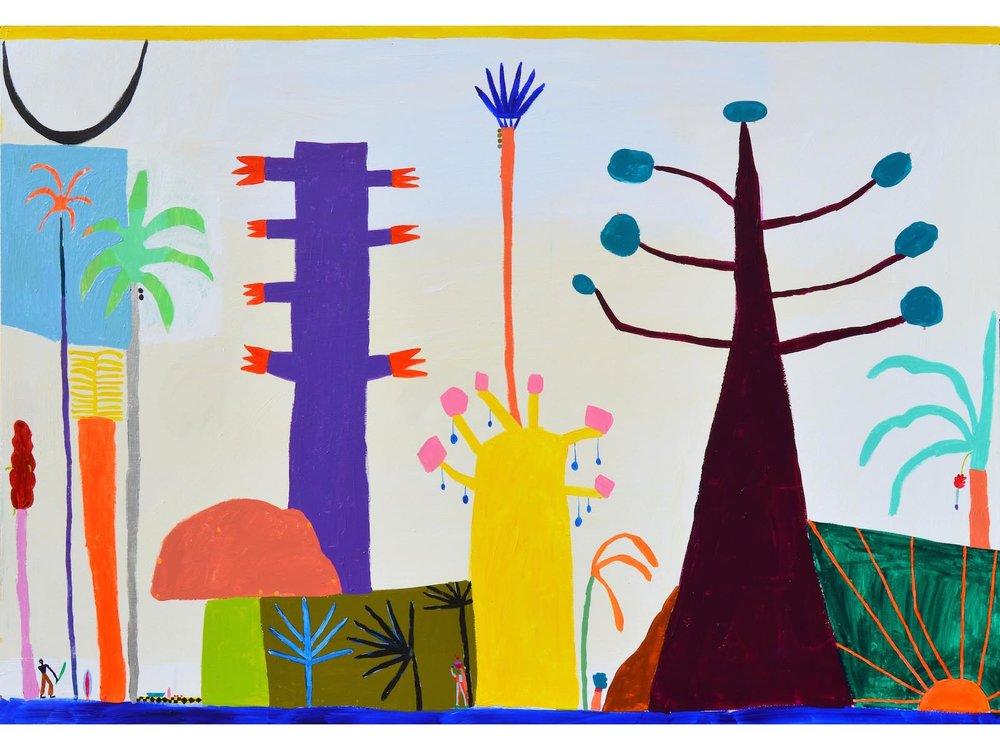 Laura López Balza_PIQUE NIQUE À LA FÔRET. Acrílico sobre tabla. 105 x 150 cm. 2018_.jpg