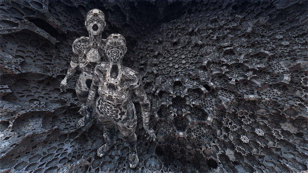 """Marina Núñez, """"Inmersión (7)"""", 2018. Infografía sobre papel de algodón Photo Rag montada en aluminio. 70x125 cm"""