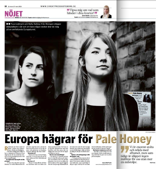 Direktpress GBG intervju - Pale Honey.png
