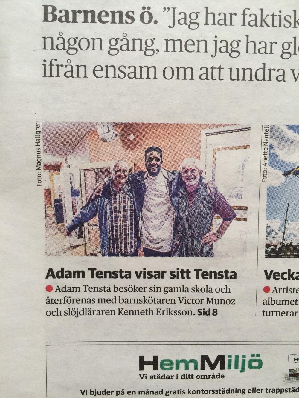 DN Sthlm första sidan - Adam Tensta.jpg