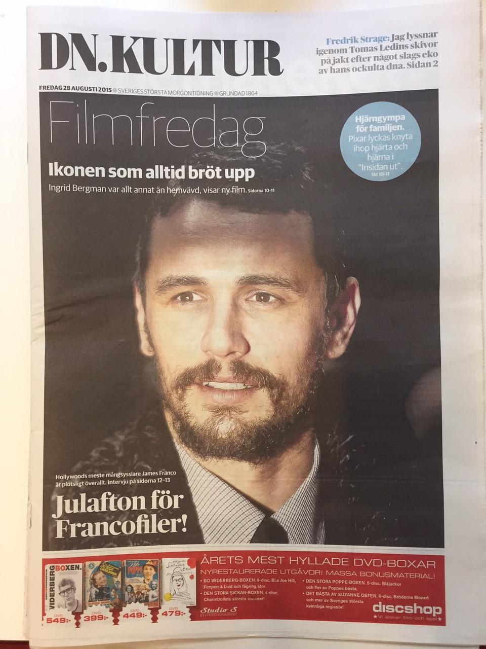 James Franco på omslaget - DN Kultur.JPG