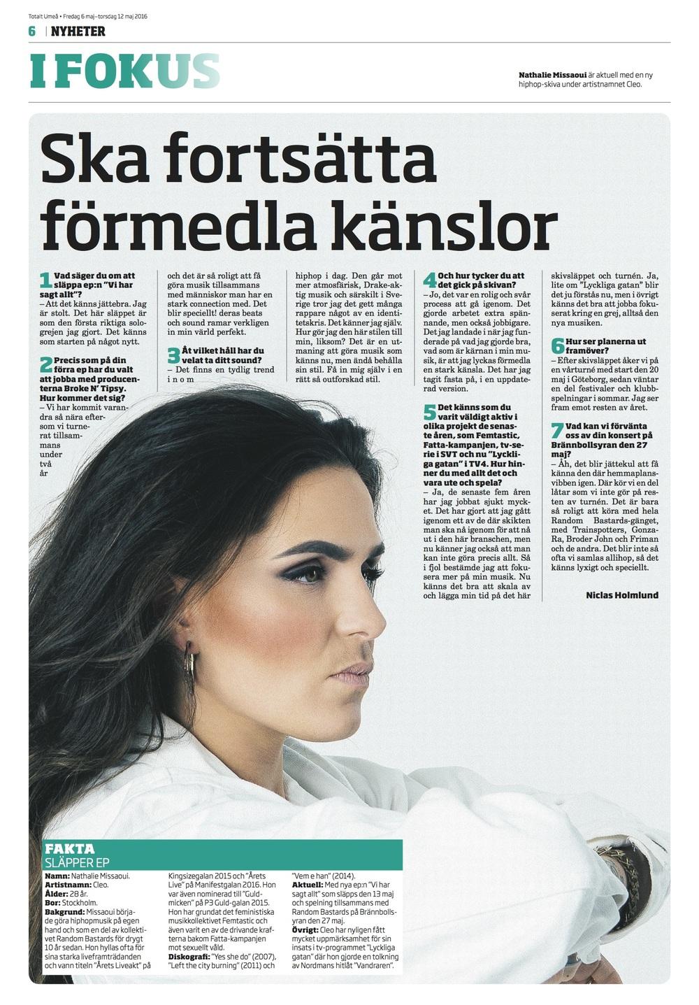 Totalt Umeå intervju - Cleo.jpg