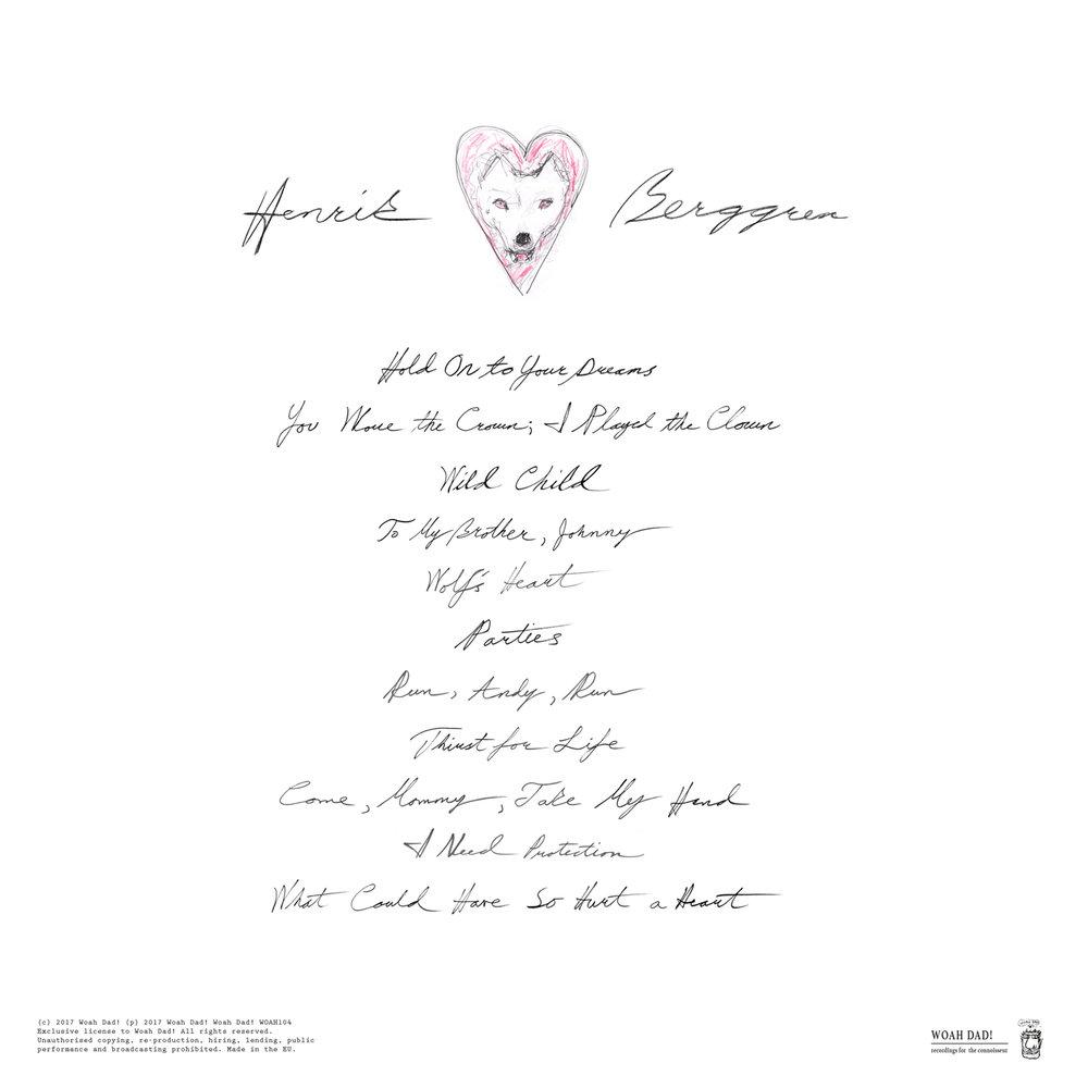 """Tracklist, """"Wolfs'Heart""""."""