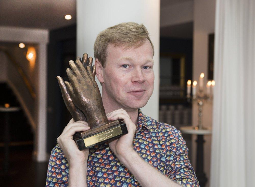 Johan Glans på pressträffen för Lisebergsapplåden 2017
