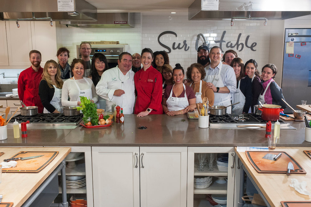 Chef Emeril Lagasse and the Rachel Ray Show stopped by my class for an impromptu Etouffe cooking class!!!
