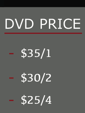 Prices above outlines per DVD. The more you get the less you pay. Example if you get two games it would be 60$ total. Mini game is $25 and promo is $10  * note duplication of DVD is illegal and is not allowed. Please understand a lot of time, money and people worked very hard all weekend to insure a great caption of all games. We appreciate your business.