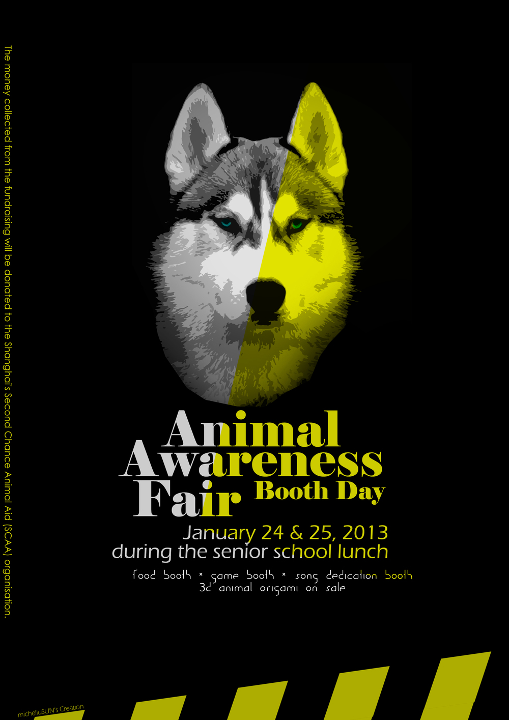 Animal Awareness Fair Booth Day Poster