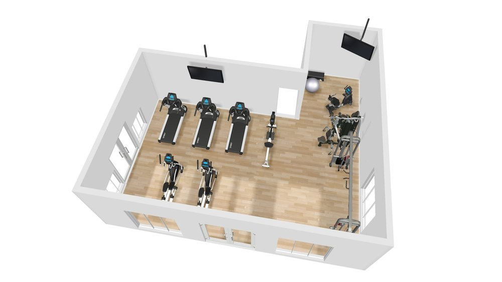 3D Room Layouts - Design the workout room your residents want, and contribute to their active lifestyles!