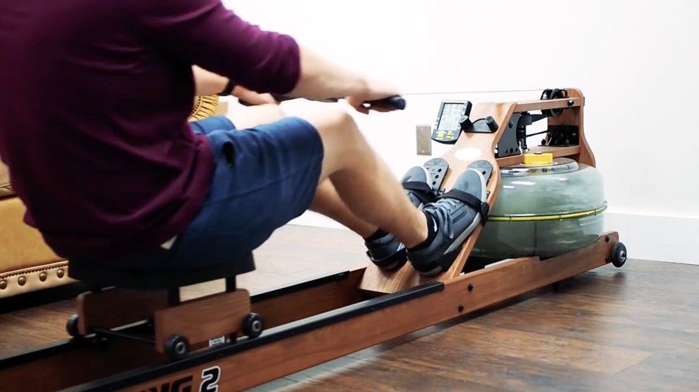 A fluid rower demonstration