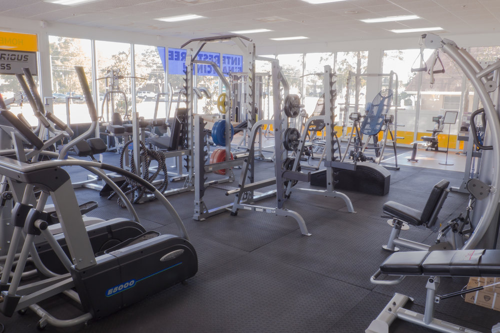 For Commercial Gyms - We supply and maintain full corporate gyms all around the Tampa Bay Area. Talk to us about building a new gym, trading-in some pieces, or scheduled maintenance visits.