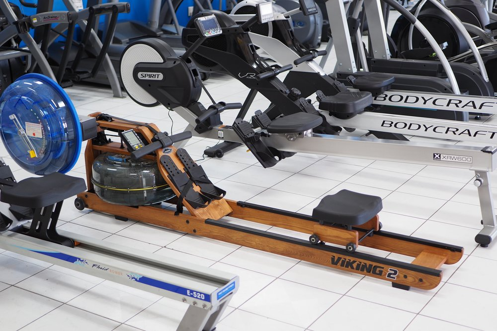 A few rowers in our showroom (we have several)
