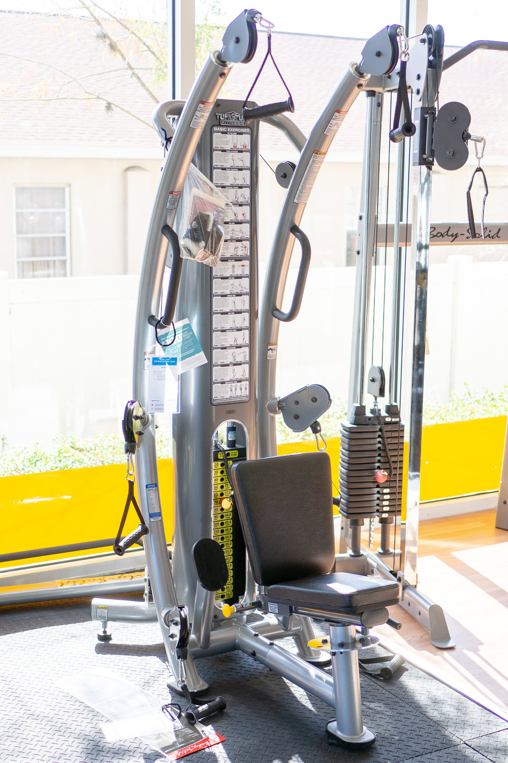 The Tuff Stuff Six-Pak Functional Trainer on display in our showroom