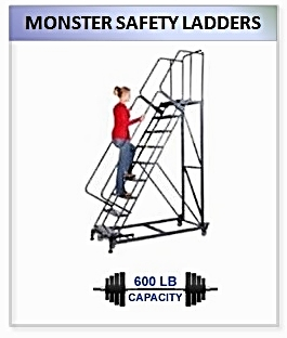 Monster Safety Rolling Ladder