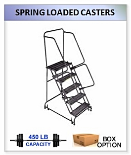 Spring Loaded Casters Ladder