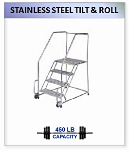 Stainless Steel Tilt And Roll Ladder