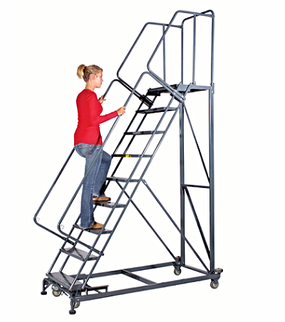Monster Safety Rolling Ladder Custom Made Ladders