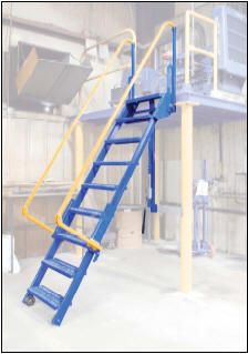 Retractable Mezzanine Ladder