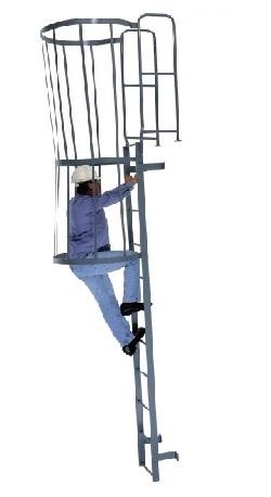 fixed steel cage ladder wlfc custom made ladders platforms