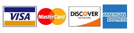 Visa,MasterCard,Discover, American Express