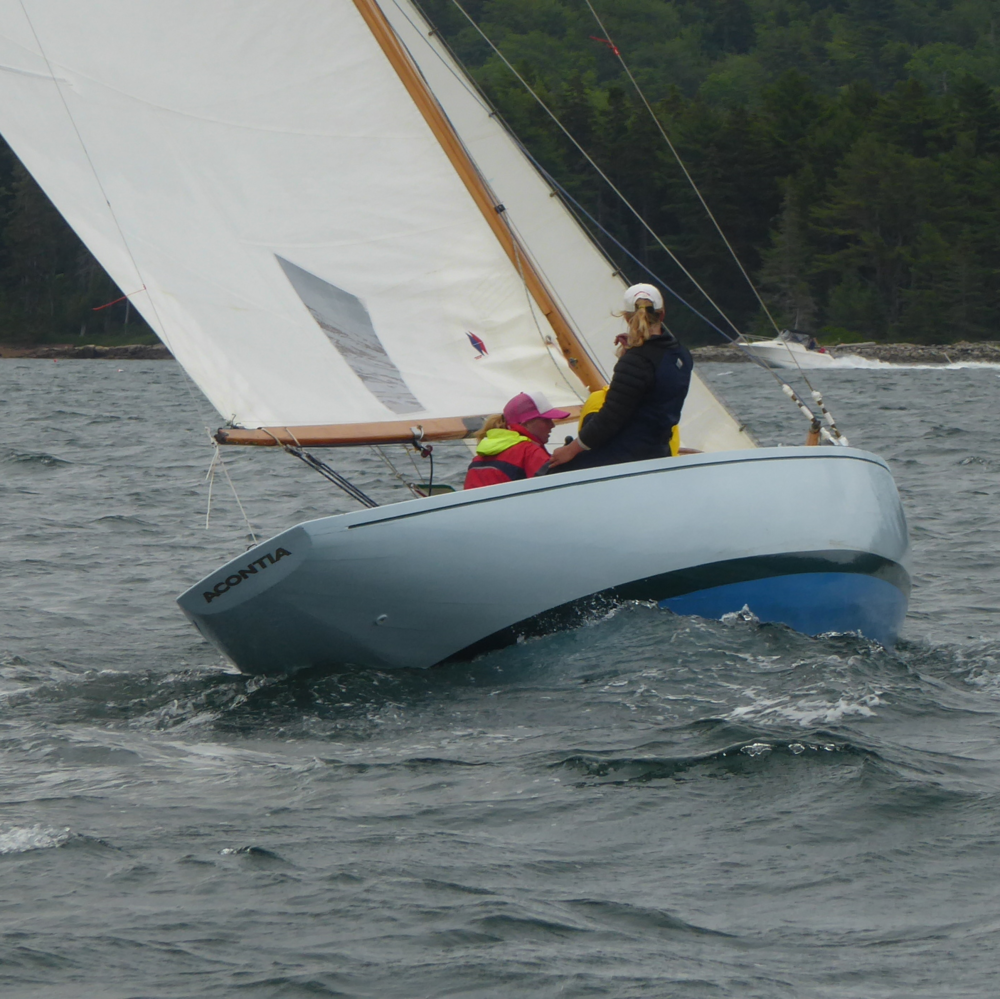 Acontia  is available for free day charters to members of the fleet, especially youth, but also to anyone with an interest in sailing and the IOD class.